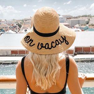 On vacay hat